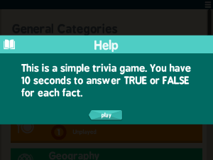 True Trivia Screenshot 0