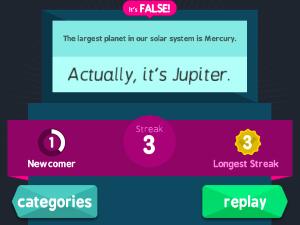 True Trivia Screenshot 1